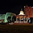Adelaide's Elder Park Rotunda at night by Ferenghi
