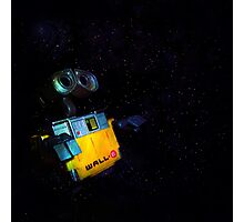 Wall-E in Space! Photographic Print
