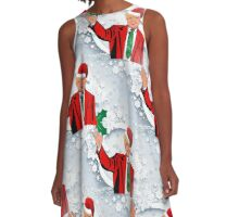 christmas santa donald trump A-Line Dress