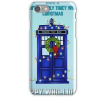 Doctor Who Christmas Card iPhone Case/Skin