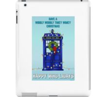 Doctor Who Christmas Card iPad Case/Skin