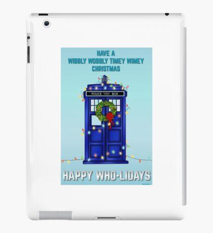 Doctor Who Christmas Card iPad Case/Skin