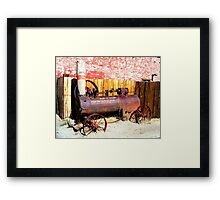 """Steam Tractor""  Virginia City, Nevada USA Framed Print"
