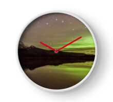Dark Skies with a Hint of Green Clock