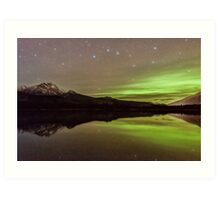 Dark Skies with a Hint of Green Art Print