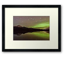 Dark Skies with a Hint of Green Framed Print