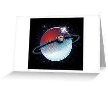 Pokeplanet Greeting Card