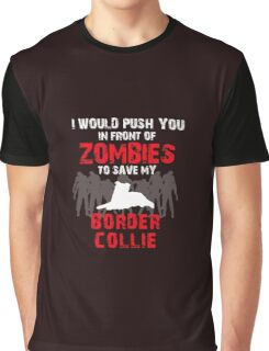 Front Of Zombies Border Collie Graphic T-Shirt