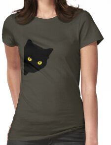 Black Cat Womens Fitted T-Shirt