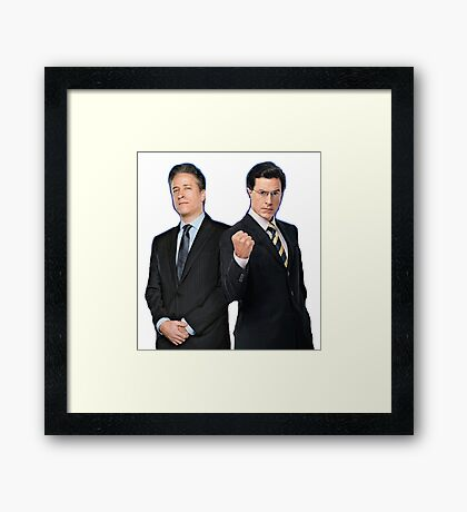 Jon Stewart - Stephen Colbert - The Daily Show - The Colbert Report Framed Print