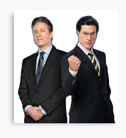 Jon Stewart - Stephen Colbert - The Daily Show - The Colbert Report Canvas Print