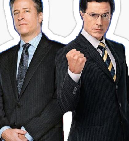 Jon Stewart - Stephen Colbert - The Daily Show - The Colbert Report Sticker