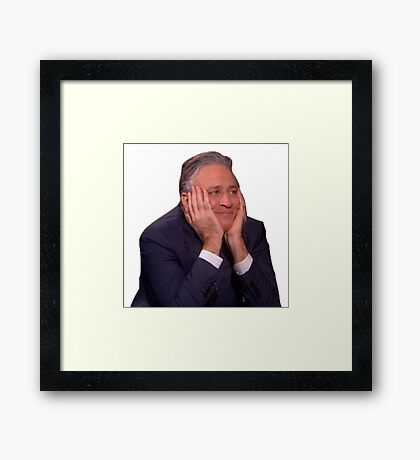 Jon Stewart - The Daily Show Framed Print