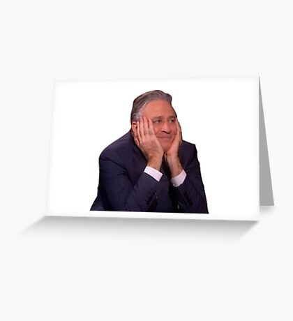 Jon Stewart - The Daily Show Greeting Card