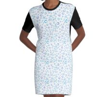 Watercolor abstract circle color pattern Graphic T-Shirt Dress