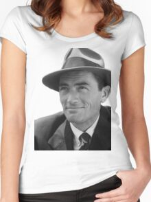 Gregory Peck - Vintage Photo Women's Fitted Scoop T-Shirt