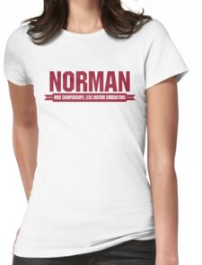 Norman - Home of Champions Womens Fitted T-Shirt