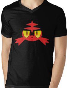 Litten Face Mens V-Neck T-Shirt