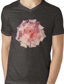 Pink Rose Mens V-Neck T-Shirt