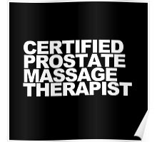 Certified Prostate Massage Therapist Poster