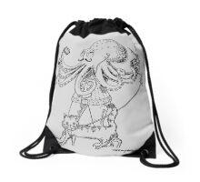 Octohipster Drawstring Bag