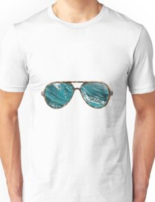 ray bans ocean Unisex T-Shirt