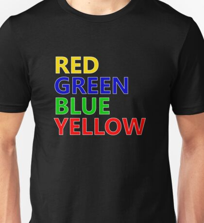 Red Green Blue Yellow Unisex T-Shirt
