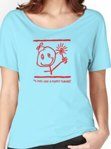 """""""FLUFFY FLOWER"""" SWAG - RED INK Women's Relaxed Fit T-Shirt"""
