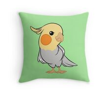 Sweet Cockatiel Throw Pillow