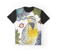 Meadowlark Bird Painting  Graphic T-Shirt