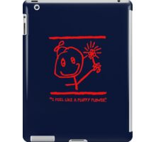 """""""FLUFFY FLOWER"""" SWAG - RED INK iPad Case/Skin"""