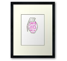 Love Note & Grenade Framed Print
