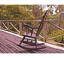 Home Among the Gumtrees and An Old Rocking Chair Photographic Print