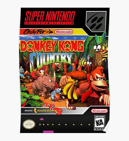 Donkey Kong Country Poster Poster