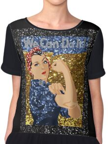 glitter rosie the riveter Chiffon Top