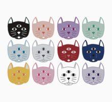 Third Eye Cat Pattern Kids Tee