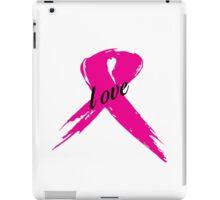 Love Pink Ribbon iPad Case/Skin