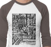 Danseur - Spike Black 'n White Men's Baseball ¾ T-Shirt