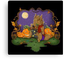 Werewolf Halloween  Canvas Print
