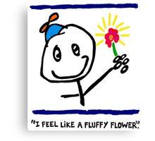 """FLUFFY FLOWER"" - PORTRAIT Canvas Print"