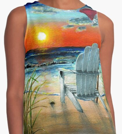 Beach Sunset Contrast Tank