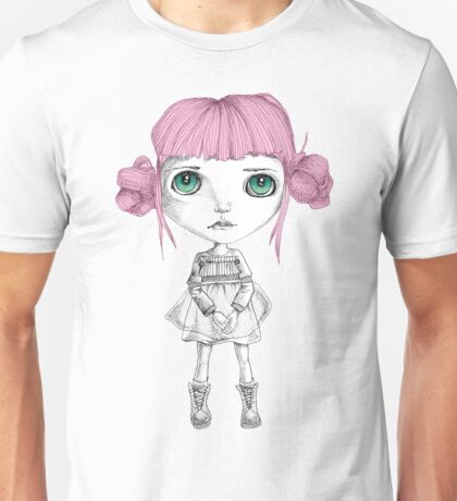 Stares with pink hair Unisex T-Shirt
