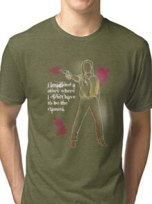 """Not a Damsel"" Dolores of the West Tri-blend T-Shirt"