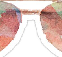 Aviator Sunglasses Watercolor Sticker - Hipster/Trendy Meme Sticker