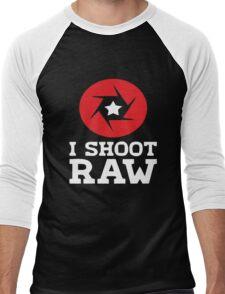 I Shoot RAW - Funny Photography Photographer Gift T-Shirt Men's Baseball ¾ T-Shirt