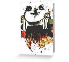 Kaz Art Creations Sloth Just Hanging Greeting Card