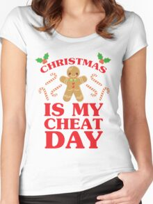 Christmas Is My Cheat Day Women's Fitted Scoop T-Shirt
