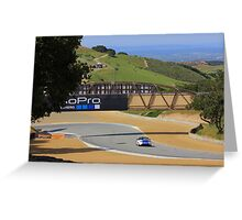 MX5 Laguna Seca Greeting Card