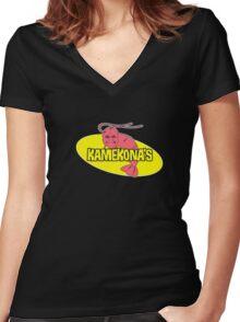 Kamekona's T-shirt Women's Fitted V-Neck T-Shirt