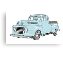 1950 Ford F1 Pickup Canvas Print